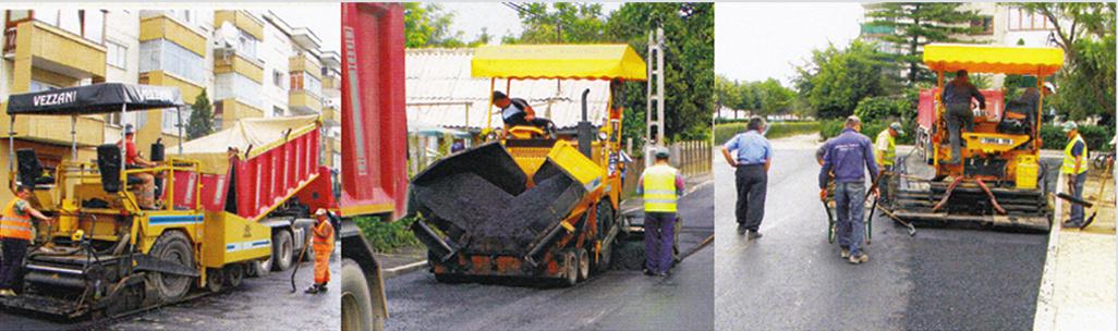 Utilaje pentru reconditionarea si asfaltarea drumurilor