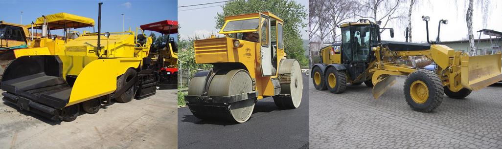 Utilaje de nivelare si asfaltare drumuri